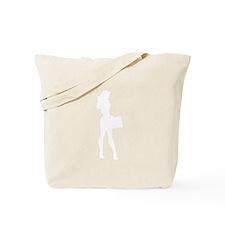 Alien Businesswoman Silhouette Tote Bag