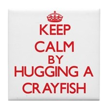 Keep calm by hugging a Crayfish Tile Coaster