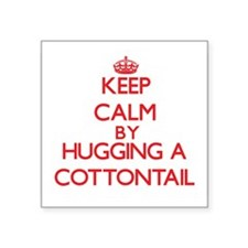 Keep calm by hugging a Cottontail Sticker