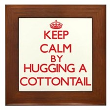 Keep calm by hugging a Cottontail Framed Tile