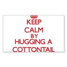 Keep calm by hugging a Cottontail Decal