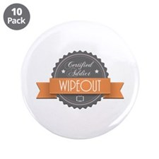"""Certified Addict: Wipeout 3.5"""" Button (10 pack)"""