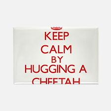 Keep calm by hugging a Cheetah Magnets
