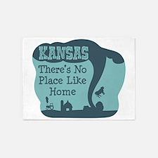 KANSAS Theres No Place Like Home 5'x7'Area Rug