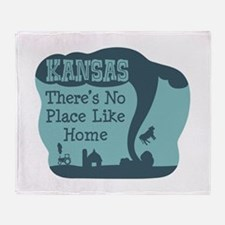 KANSAS Theres No Place Like Home Throw Blanket