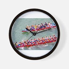 Dragon Boats Wall Clock