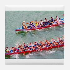 Dragon Boats Tile Coaster