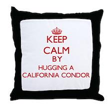 Keep calm by hugging a California Condor Throw Pil