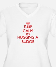 Keep calm by hugging a Budgie Plus Size T-Shirt