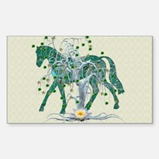 Horse In Winter Forest Decal
