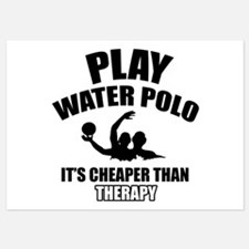 water polo is my therapy Invitations
