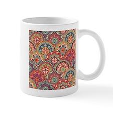 Mid Century Half Circles in Orange Mugs