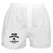 ping pong is my therapy Boxer Shorts