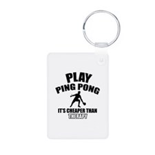 ping pong is my therapy Keychains