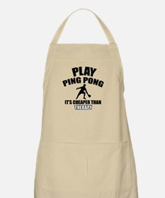 ping pong is my therapy Apron