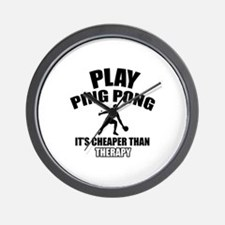 ping pong is my therapy Wall Clock