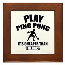 ping pong is my therapy Framed Tile