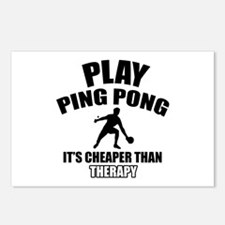 ping pong is my therapy Postcards (Package of 8)