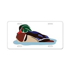 Wood Duck Aluminum License Plate