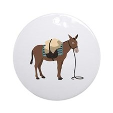 Pack Mule Ornament (Round)