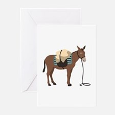 Pack Mule Greeting Cards