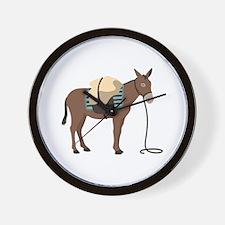 Pack Mule Wall Clock
