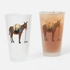Pack Mule Drinking Glass