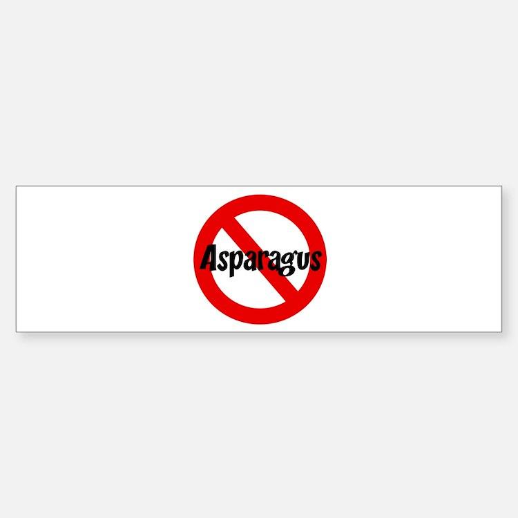 Anti Asparagus Bumper Bumper Bumper Sticker
