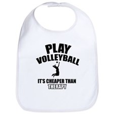 volleyball is my therapy Bib