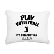 volleyball is my therapy Rectangular Canvas Pillow