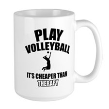 volleyball is my therapy Mug