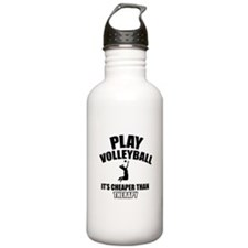 volleyball is my therapy Water Bottle