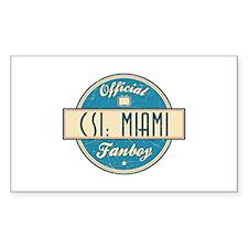 Official CSI: Miami Fanboy Rectangle Decal