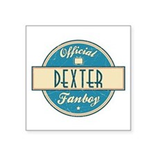 "Official Dexter Fanboy Square Sticker 3"" x 3"""