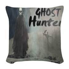 Ghost Hunter Woven Throw Pillow