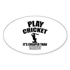 cricket is my therapy Decal