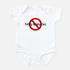 Anti Turkey Sandwiches Infant Bodysuit