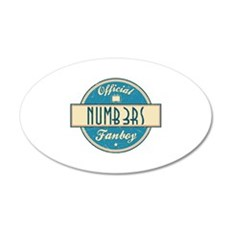 Official Numb3rs Fanboy 22x14 Oval Wall Peel