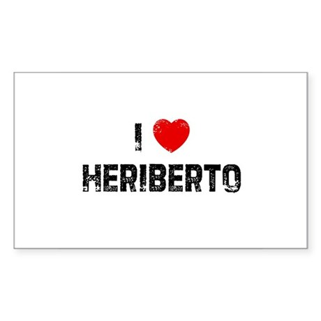 I * Heriberto Rectangle Sticker