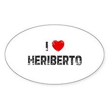 I * Heriberto Oval Decal
