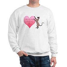 Valentine Cat Sweatshirt