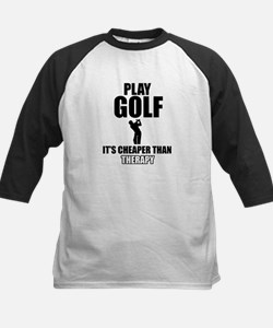 golf is my therapy Kids Baseball Jersey