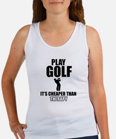 golf is my therapy Women's Tank Top