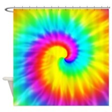 Tie Dye Effect Shower Curtain