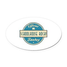 Official Schoolhouse Rock! Fanboy Oval Car Magnet