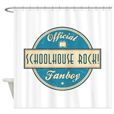 Official Schoolhouse Rock! Fanboy Shower Curtain