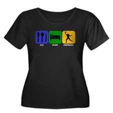 Eat Sleep Football (Wide Receiver) Plus Size T-Shi