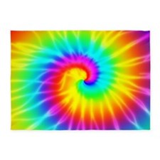 Retro Tie Dye Effect 5'X7'area Rug
