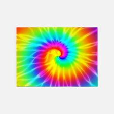 Retro Tie Dye Effect 5'X7'area Rug