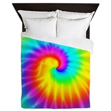 Retro Groovy Tie Dye Effect Queen Duvet